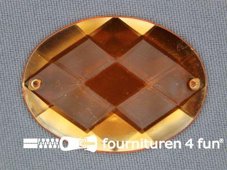 5 stuks Strass stenen ovaal 40x30mm goud geel
