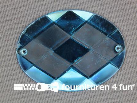 5 stuks Strass stenen ovaal 40x30mm aqua blauw