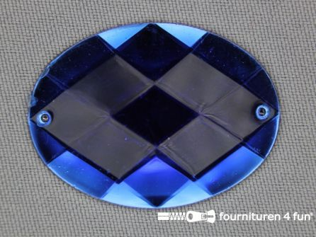 5 stuks Strass stenen ovaal 40x30mm kobalt blauw