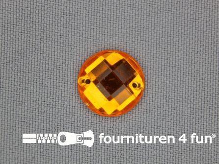 10 stuks Strass stenen rond 14mm goud geel