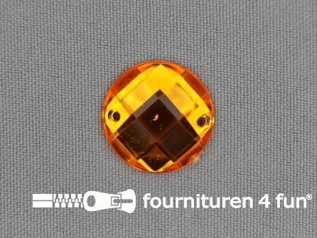 10 stuks Strass stenen rond 20mm goud geel