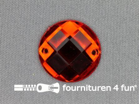 10 stuks Strass stenen rond 25mm rood