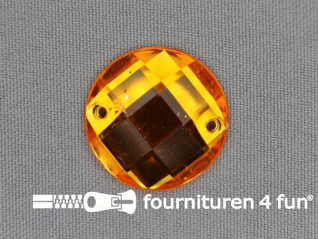 10 stuks Strass stenen rond 25mm goud geel