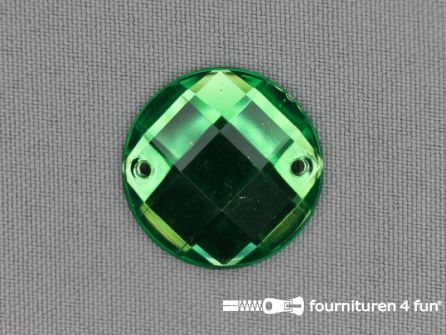10 stuks Strass stenen rond 25mm gras groen