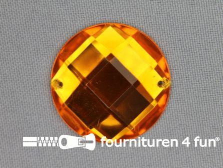 5 stuks Strass stenen rond 30mm goud geel