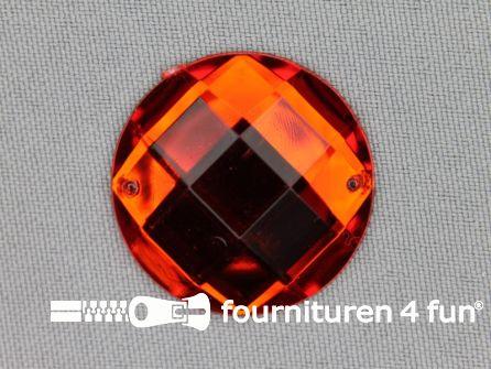 5 stuks Strass stenen rond 30mm rood