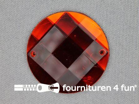 5 stuks Strass stenen rond 35mm rood