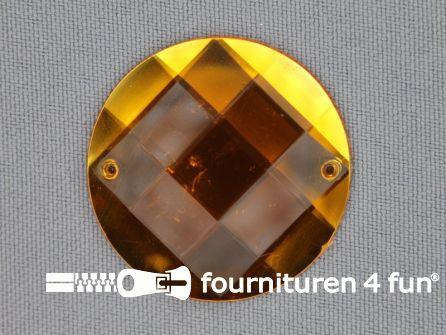 5 stuks Strass stenen rond 35mm goud geel