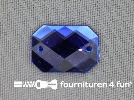 10 stuks Strass stenen rechthoek 18x13mm kobalt blauw