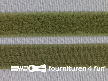 Klittenband 20mm leger groen