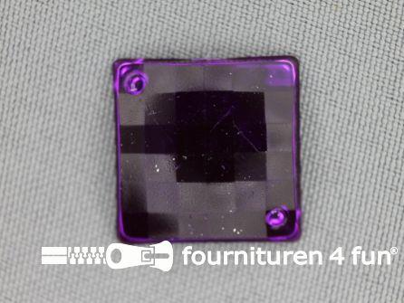 10 stuks Strass stenen vierkant 20mm paars