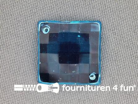 10 stuks Strass stenen vierkant 20mm aqua blauw