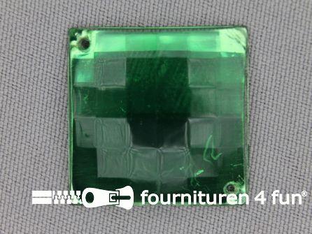 5 stuks Strass stenen vierkant 25mm gras groen