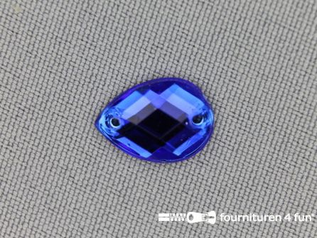 10 stuks Strass stenen druppel 10x14mm kobalt blauw