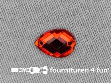 10 stuks Strass stenen druppel 10x14mm rood