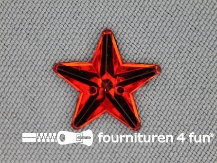 10 stuks Strass stenen ster 15mm rood