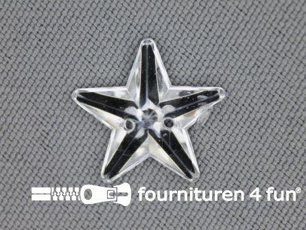 10 stuks Strass stenen ster 15mm zilver