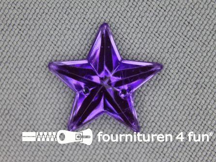 10 stuks Strass stenen ster 15mm lila paars