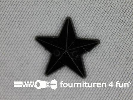 10 stuks Strass stenen ster 15mm zwart