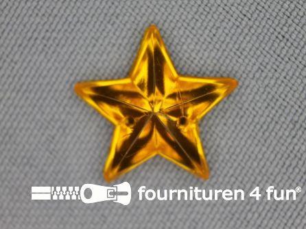 10 stuks Strass stenen ster 15mm goud geel