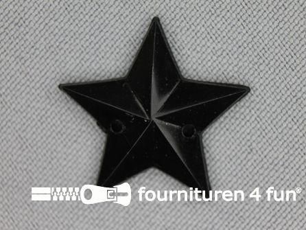 10 stuks Strass stenen ster 25mm zwart
