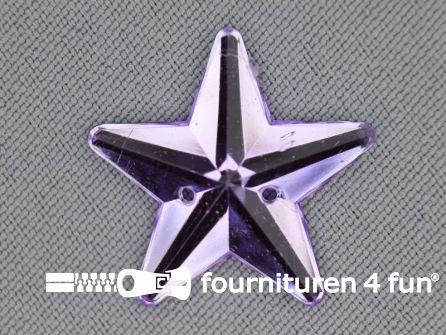 10 stuks Strass stenen ster 25mm lila paars