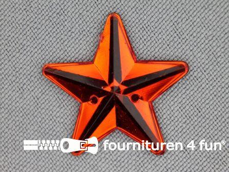 10 stuks Strass stenen ster 25mm rood