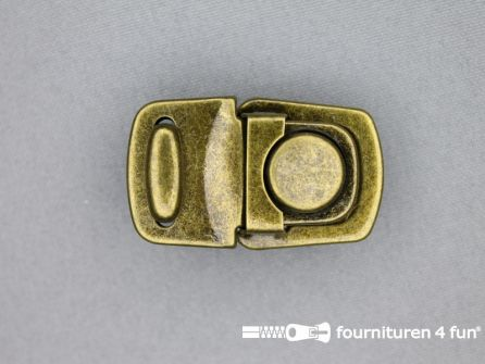 Koffer sluiting 27x44mm brons