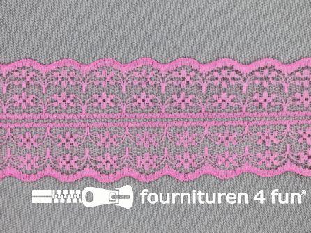Nylon kant entredeux 43mm barbie roze