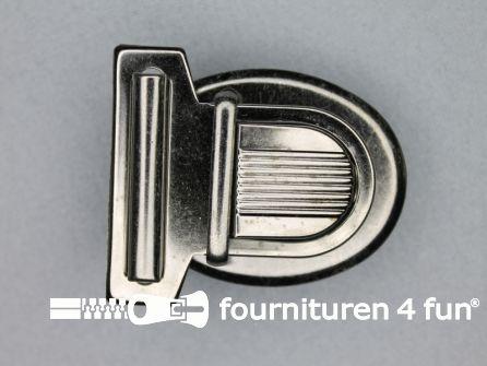 Koffer sluiting 45x50mm zwart zilver