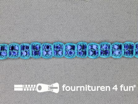 Party band 9mm aqua blauw - kobalt blauw