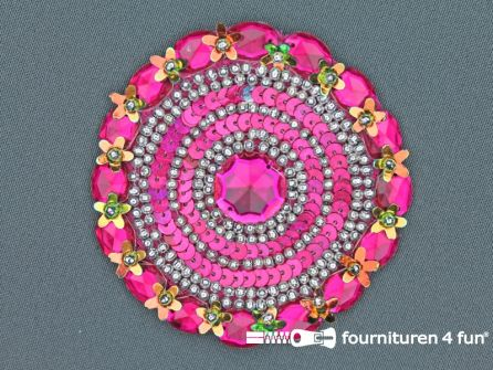 Broche 80-85mm fuchsia roze