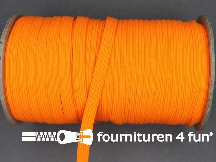 9 Meter elastiek 6mm neon oranje