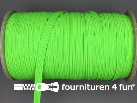9 Meter elastiek 6mm neon groen