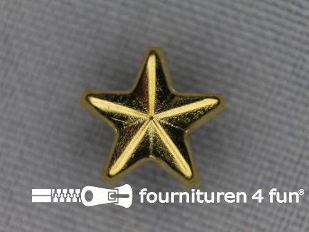 50 stuks Studs 10mm ster goud