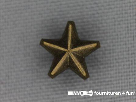 50 stuks Studs 10mm ster brons