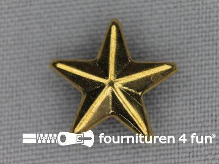40 stuks Studs 15mm ster goud
