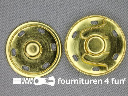 Mantel drukkers 30mm goud