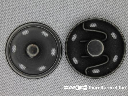 Mantel drukkers 30mm zwart brons