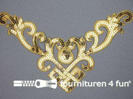 Pailletten applicatie 232x130mm goud