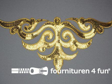 Pailletten applicatie 290x135mm goud