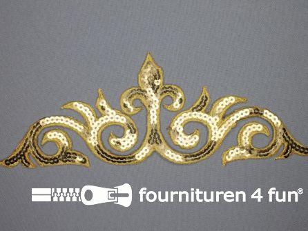 Pailletten applicatie 240x80mm goud