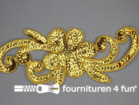 Pailletten applicatie 190x80mm goud