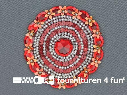Broche 80-85mm bordeaux rood