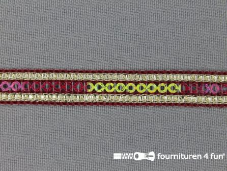 100 meter party band 10mm bordeaux rood
