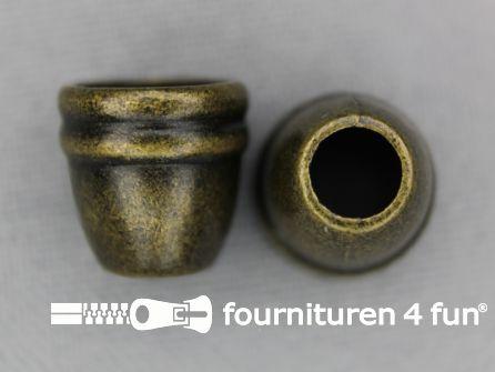 Metalen koord uiteinde 12x11mm geel brons