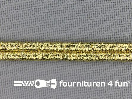 Soutache koord 5mm glans geel goud