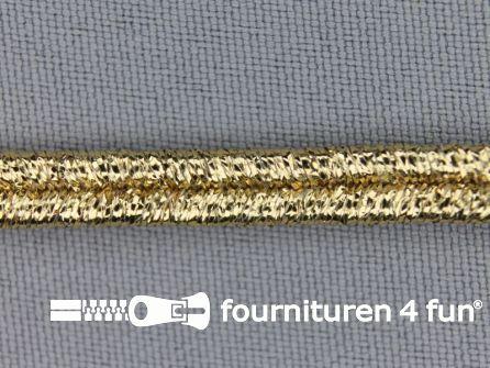 Soutache koord 5mm glans brocaat goud