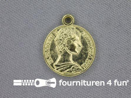 Munten 20mm goud 10 stuks