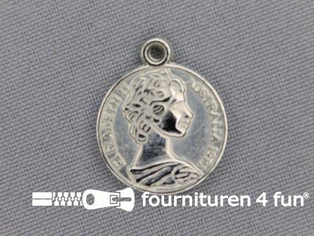 Munten 20mm zilver 10 stuks